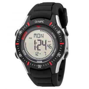 Olympic OL45HKR012 Biking Horloge - Siliconen - Zwart - 40mm
