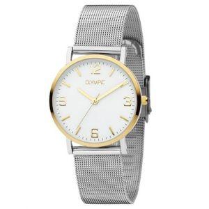 Olympic OL66DSS002B Parma Horloge - Staal - Zilverkleurig - 30mm