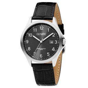 Olympic OL72HSL049 Baltimore Horloge - Leer - Zwart - 40mm