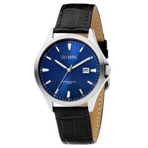 Olympic OL72HSL056 Baltimore Horloge - Leer - Zwart - 40mm
