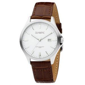 Olympic OL72HSL064 Baltimore Horloge - Leer - Bruin - 40mm