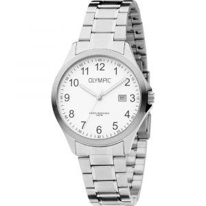 Olympic OL72HSS237 Baltimore Horloge - Staal - Zilverkleurig - 40mm