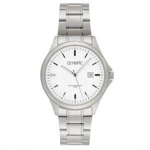 Olympic OL72HSS239 Baltimore Horloge - Staal - Zilverkleurig - 40mm
