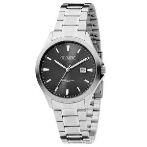 Olympic OL72HSS240 Baltimore Horloge - Staal - Zilverkleurig - 40mm