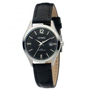 Olympic OL88DSL017 Prato Horloge - Leer - Zwart - 29mm