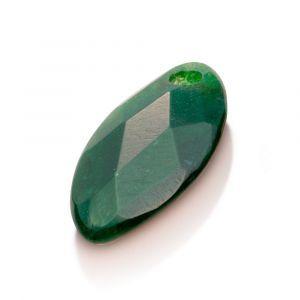 Sparkling Jewels hanger PENGEM16-FCT-S - Gemstone - Facet Leaf Moss Agate - 28mm
