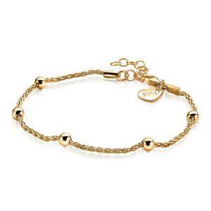 ZINZI zilveren fantasie armband goud verguld 17,5-20,5cm ZIA1128G