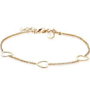 ZINZI zilveren armband goud verguld ZIA1188G (Lengte 17-20cm)