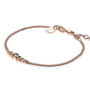 ZINZI zilveren armband rosé verguld ZIA1259R (Lengte 17-20cm)