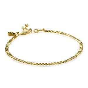 ZINZI zilveren armband goud verguld ZIA1418G (Lengte 17,5-20cm)