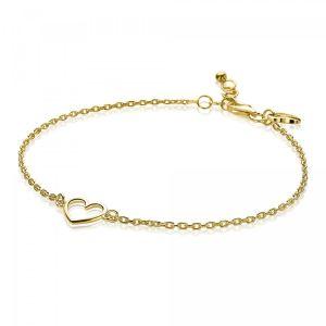 ZINZI zilveren armband goud verguld ZIA1420G (Lengte 18-20cm)