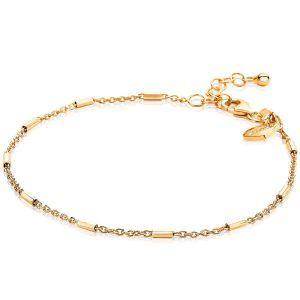 ZINZI zilveren armband goud verguld ZIA1648G (Lengte 17-20cm)