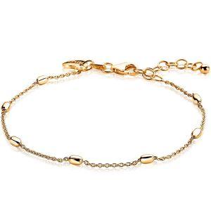 ZINZI zilveren armband goud verguld ZIA1655G (Lengte 16,5-20 cm)