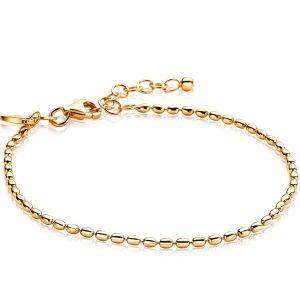 ZINZI zilveren armband goud verguld ZIA1656G (Lengte 16,5-20 cm)