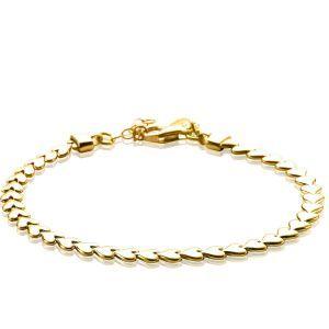 ZINZI zilveren armband goud verguld ZIA1798G (Lengte 17-19cm)