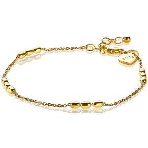 ZINZI zilveren armband goud verguld ZIA1809G (Lengte 17,5-19,5 cm)