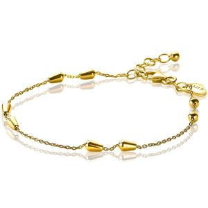ZINZI zilveren armband goud verguld ZIA1910G (Lengte 17-19,5cm)