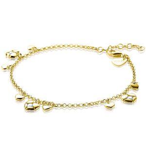 ZINZI zilveren armband goud verguld ZIA1916G (Lengte 18 -20 cm)