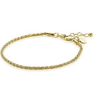 ZINZI zilveren armband goud verguld ZIA1931G (Lengte 16,5-20 cm)