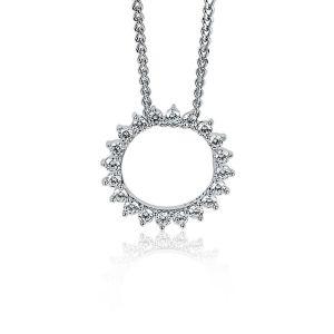 ZINZI zilveren hanger zon wit 18mm ZIH1883