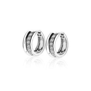 ZINZI zilveren oorringen wit 15x5mm ZIO1737