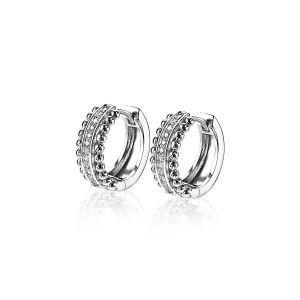 ZINZI zilveren multi look oorringen 16x6mm wit ZIO1742
