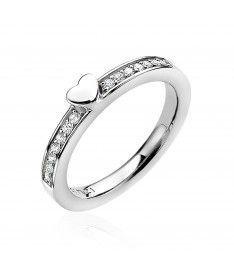 ZINZI ring ZIR1391 - Zilver 925 - Zirkonia