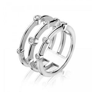 ZINZI ring ZIR1441 - Zilver 925 - Zirkonia