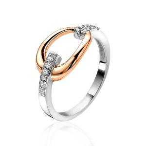 ZINZI ring ZIR1709 - Zilver 925 - Zirkonia