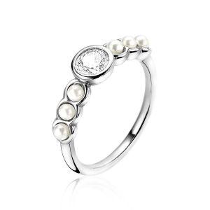 ZINZI ring ZIR1785 - Zilver 925 - Wit