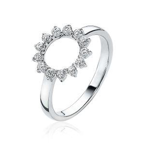 ZINZI ring ZIR1883 - Zilver 925 - Zirkonia