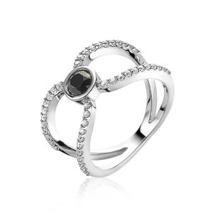 ZINZI ring ZIR1947 - Zilver 925 - Zirkonia